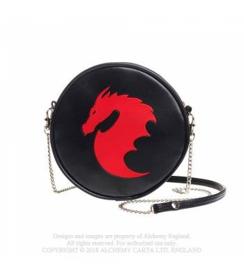 schwarze Handtasche Dragon Alchemy Gothic ART OF DARK