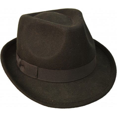 Wollhut Trilby, schwarz ART OF DARK
