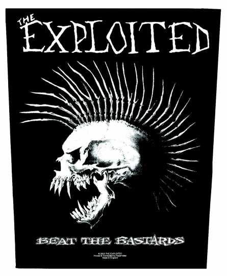 Exploited - Beat the Bastards Rüclenaufnäher Backpatch