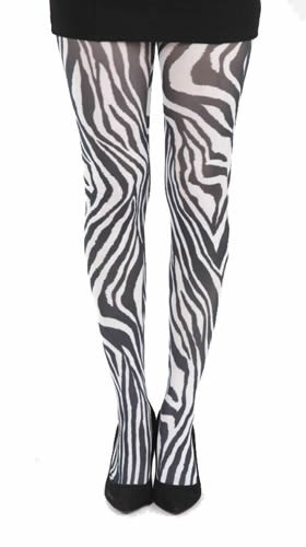 Strumpfhose Tight Zebra, schwarz weiß black and white