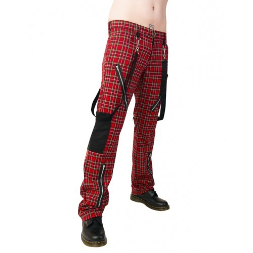 Punk Pants Tartan Black Pistol