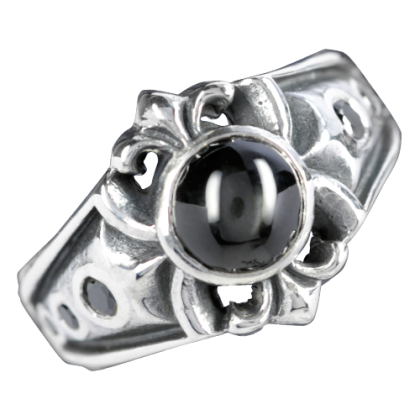 Ring mit Sterndiopsit ART OF DARK; silber