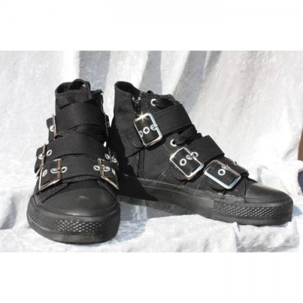 3-Buckle Canvas Boot
