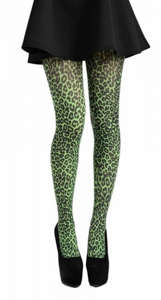 Strumpfhose Tight Leopard, Grün Green