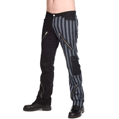 Freak Pants Stripe schwarz grau Black Pistol ART OF DARK