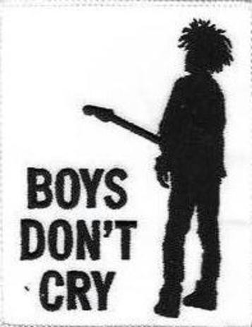 The Cure - Boys don`t cry, gestickter Aufnäher, Patch