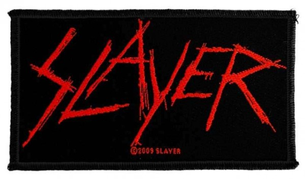 Slayer - Scratched Logo Patch Aufnäher