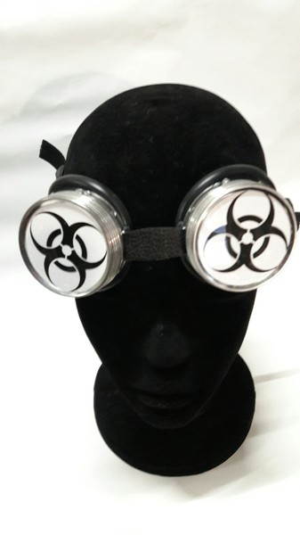 Cyberbrille Biohazard, weiss Goggle