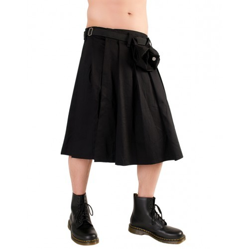 Black Pistol Short Kilt Denim