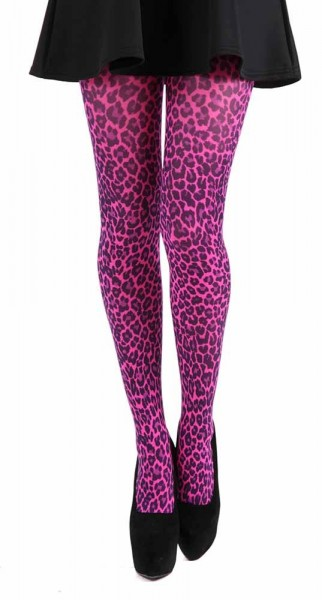 Strumpfhose Tight Leopard, Pink