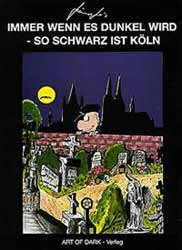 Grufti Gothic Comic Cartoon von Kämpfer