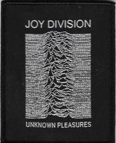 Joy Division - Unknown Pleasure, gestickter Aufnäher, Patch