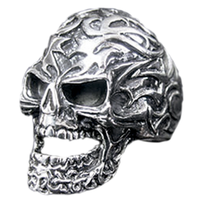 Tribeal Ring Totenkopf Schädel, silber