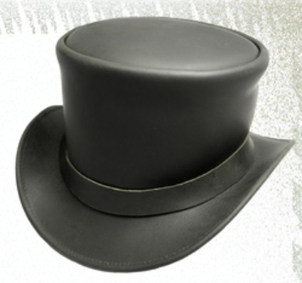 Leder-Zylinder, Nobuk Top Hat ART OF DARK